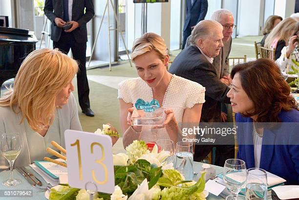 President of The Blue Ribbon Julie Goldsmith Her Serene Highness Princess Charlene of Monaco and Former United States Secretary of Labor Hilda Solis...
