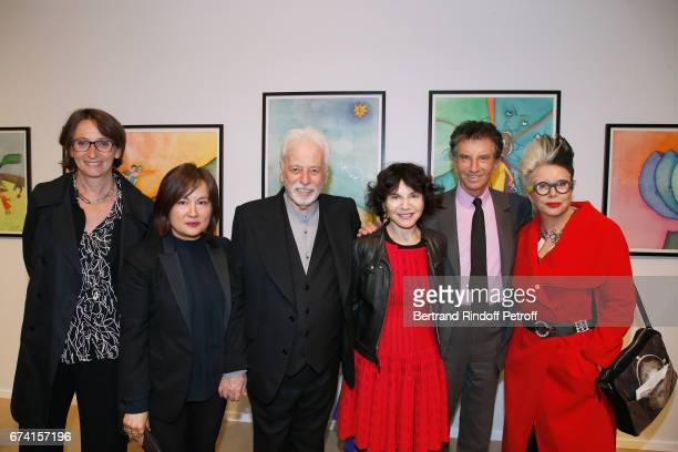 President of the BnF Laurence Engel Pascale MontandonJodorowsky Alejandron Jodorowsky Monique Lang Jack Lang and Orlan attend the 'pascALEjandro...