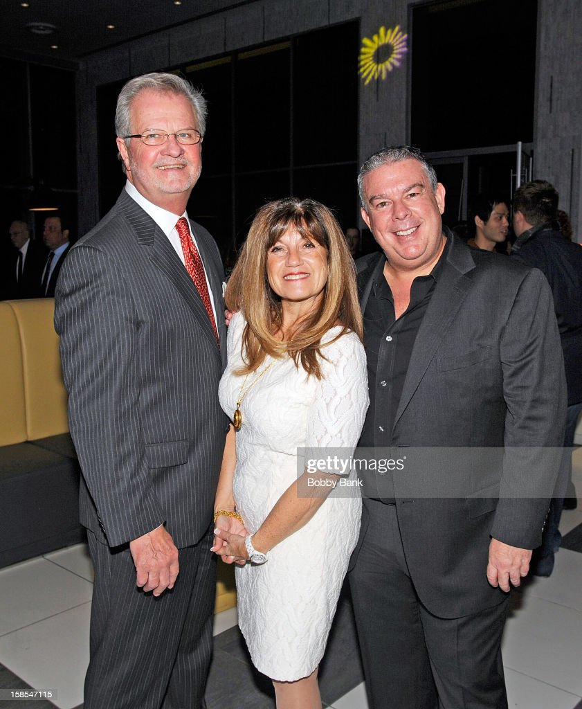 President of the board of the Staten Island Zoological Society, William J. Frew Jr., guest and Elvis Duran 2012 Staten Island Zoo Christmas Party Hosted By Elvis Duran at Staten Island Hilton on December 18, 2012 in New York City.