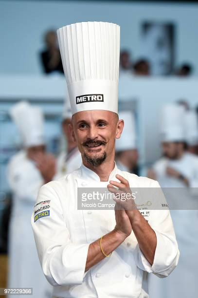 President of the Bocuse d'Or Europe 2018 Enrico Crippa is pictured during the Europe 2018 Bocuse d'Or International culinary competition Best ten...