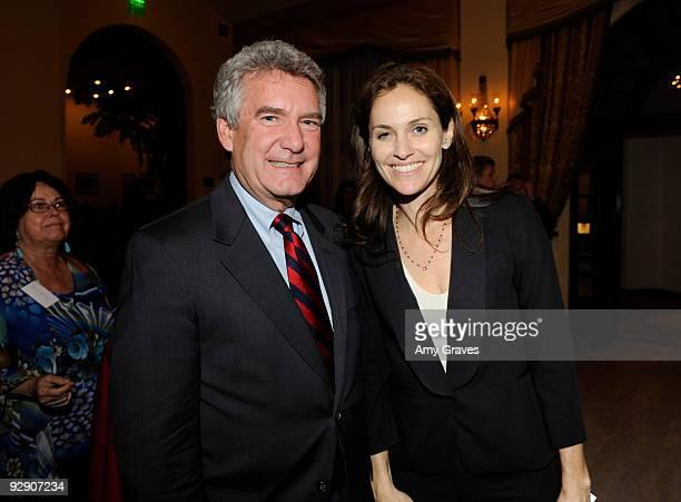 President of the Brady Center to Prevent Gun Violence Paul Helmke and actress Amy Brenneman attend the 2009 Brady Center to Prevent Gun Violence...