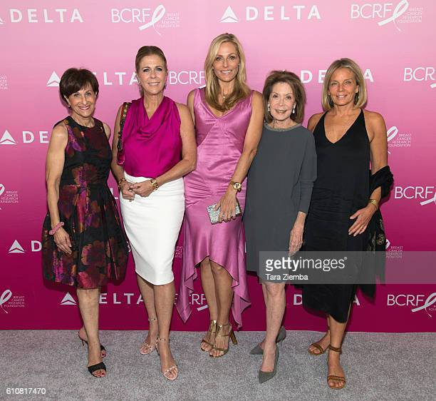 President of The Breast Cancer Research Foundation Inc Myra Biblowit BCRF's Women's Cancer Research Fund cofounders Rita Wilson Jamie Tisch Marion...