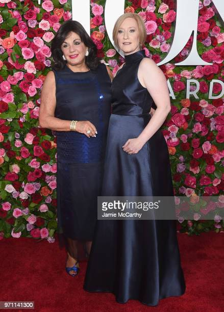 President of The Broadway League Charlotte St Martin and President and CEO of the American Theatre Wing Heather Hitchens attend the 72nd Annual Tony...