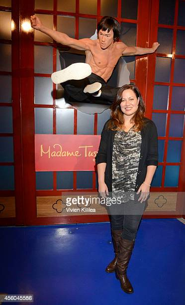 President of the Bruce Lee Foundation Shannon Lee attends Madame Tussauds Hollywood Unveils New Bruce Lee Figure Alongside The Legend's Daughter...