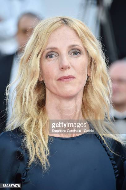 President of the Camera d'Or jury Sandrine Kiberlain attends the Closing Ceremony during the 70th annual Cannes Film Festival at Palais des Festivals...
