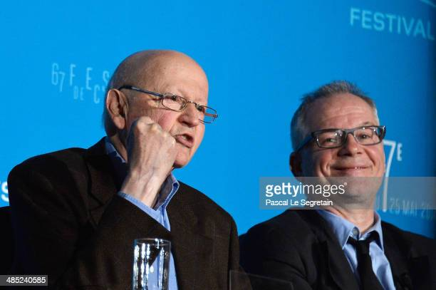 President of the Cannes Film Festival Gilles Jacob and General Delegate of the Cannes Film Festival Thierry Fremaux attend the 67th Cannes Film...