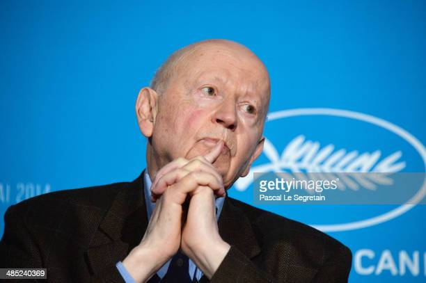 President of the Cannes Film Festival Gilles Jacob attends the 67th Cannes Film Festival Official Selection Presentation at UGC Normandie on April 17...