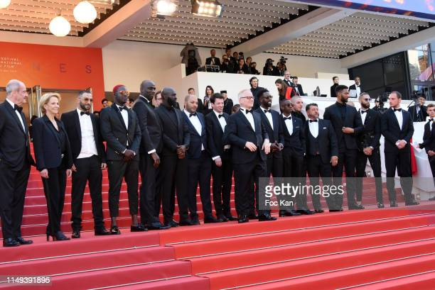 President of the Cannes Film Festival Pierre Lescure CNC president Frederique Bredin Thierry Fremaux Ladj Ly Djebril Zonga Alexis Manenti and The...