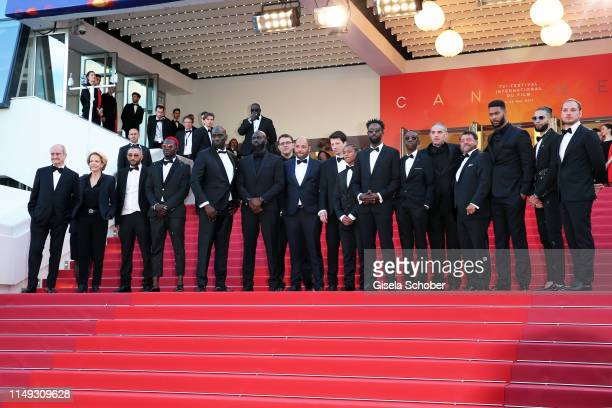 President of the Cannes Film Festival Pierre Lescure Director Ladj Ly Actors Damien Bonnard Alexis Manenti Djebril Didier Zonga and other members of...