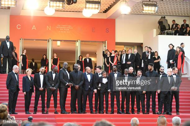 """President of the Cannes Film Festival Pierre Lescure, Frederique Bredin and The Cast of The Miserables attend the screening of """"Les Miserables""""..."""