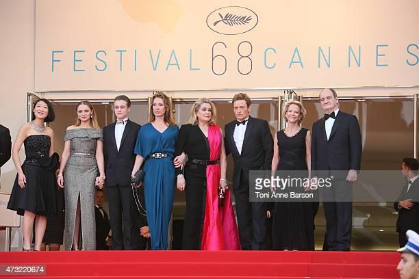 President of the Cannes Film Festival Pierre Lescure politician Fleur Pellerin actress Sara Forestier actor Rod Paradot politician Frederique Bredin...
