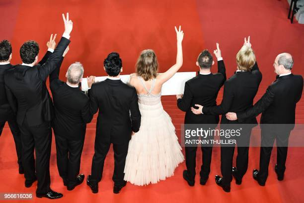 President of the Cannes Film Festival Pierre Lescure Russian producer Ilya Stewart Russian actor Roma Zver Russian actress Irina Starshenbaum German...