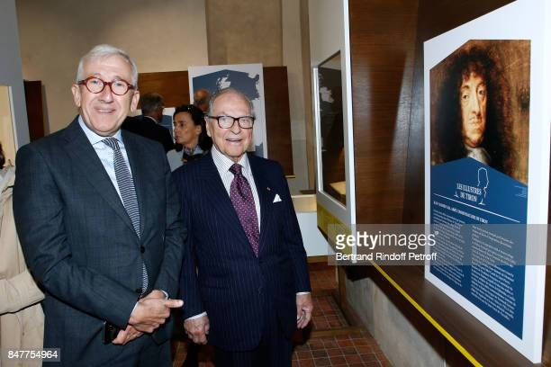 President of the Center for National Monuments Philippe Belaval and Chancellor of the 'Institut de France' Prince Gabriel de Broglie attend Members...