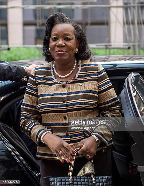 President of the Central African Republic Catherine Samba-Panza attends the EU-Africa summit in capital Brussels, Belgium, on April 2, 2014. The 4th...