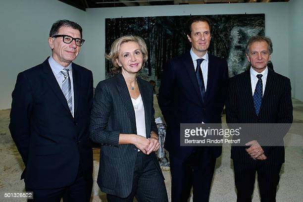 President of the Centre Pompidou Serge Lasvignes, President of 'Region Ile-de-France' Valerie Pecresse, Politician Jerome Chartier and Guest attend...
