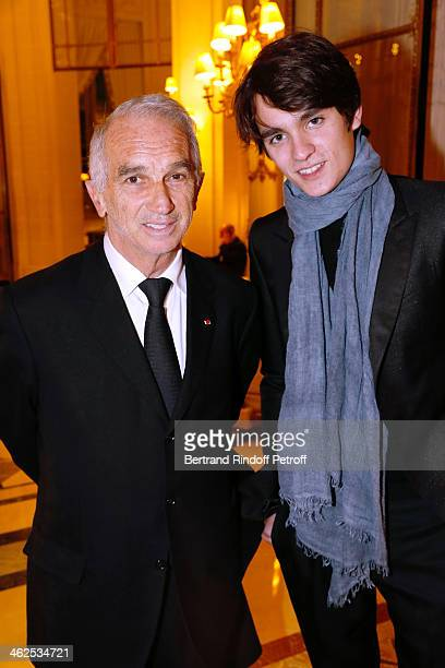 President of the 'Cesar' the French Academy awards Alain Terzian and actor AlainFabien Delon at the Chaumet's Cocktail Party for Cesar's Revelations...