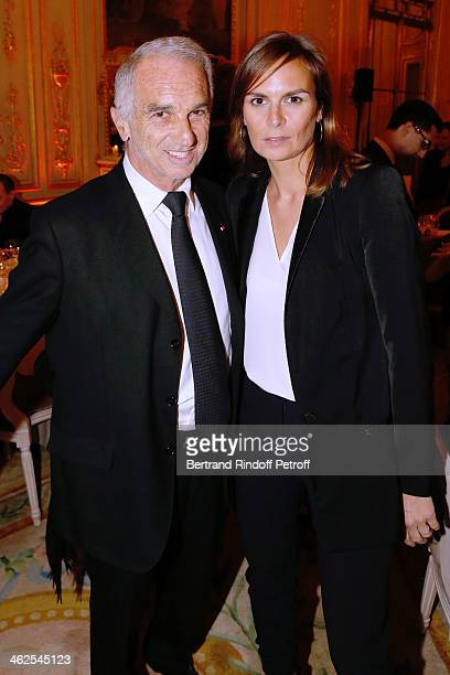 President of the 'Cesar' the French Academy awards Alain Terzian with his wife Brune de Margerie at the Chaumet's Cocktail Party for Cesar's...