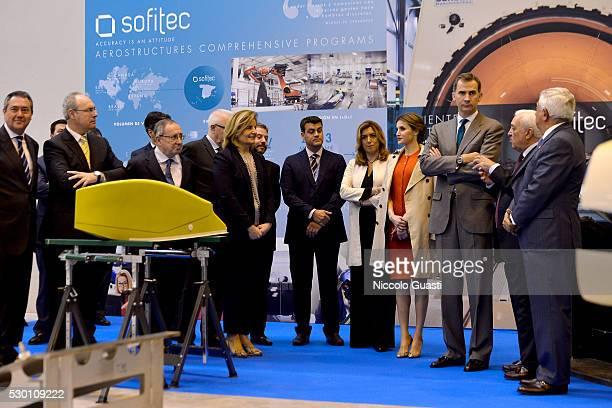 President of the Chamber of Commerce of Seville Francisco Herrero King Felipe VI of Spain Queen Letizia President of the regional Government of...