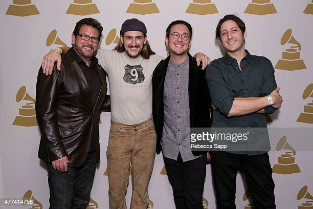President of the LA Chapter and Concord Records John Burk with Billy Lee George Krikes and Tyson Kelly of King Washington attend the LAC GRAMMY...