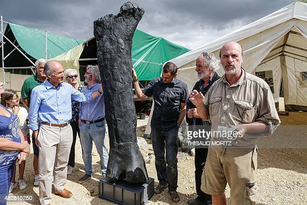 President of the Charente region departmental council, Francois Bonneau , French paleontologist and dinosaur specialist at the French National Museum...