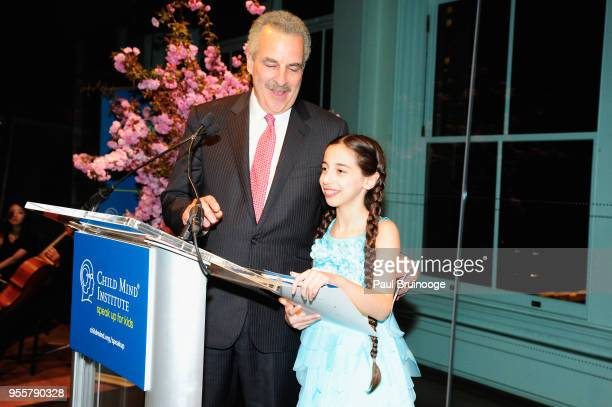 President of The Child Mind Institute Dr Harold S Koplewicz and Skylar Lipkin attend the 2018 Change Maker Awards at Carnegie Hall on May 7 2018 in...