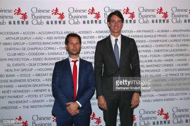 President of the Chinese Business Club, Harold Parisot and Alexandre Arnault attend the Lunch in Honor of Alexandre Arnault, Rimowa CEO at Chinese...