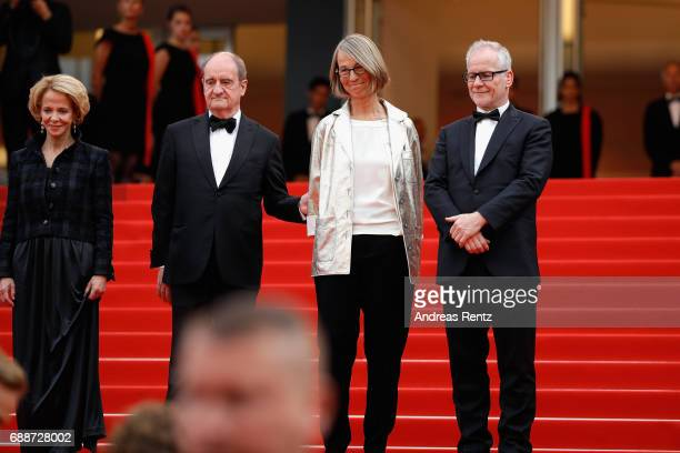 President of the CNC Frederique Bredin, President of the festival Pierre Lescure, French minister of Culture Francoise Nyssen and Director of the...