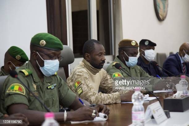 President of the CNSP Assimi Goita prepares for a meeting between Malian military leaders and an ECOWAS delegation headed by former Nigerian...