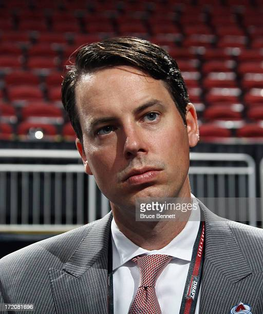 President of the Colorado Avalanche Josh Kroenke attends the 2013 NHL Draft at Prudential Center on June 30 2013 in Newark New Jersey