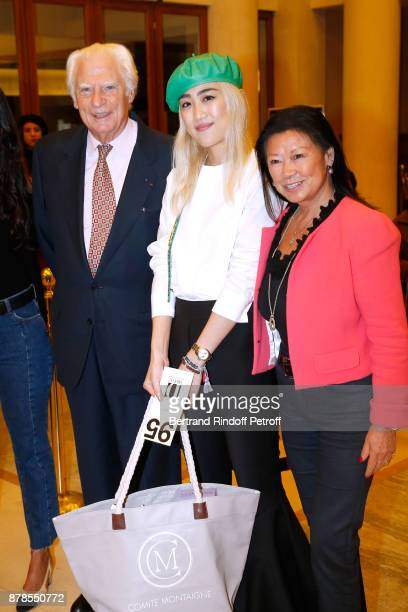 President of the 'Comite Montaigne' JeanClaude Cathalan winner of a prize Catherinette from Dior and Mayor of 8th District of Paris Jeanne...