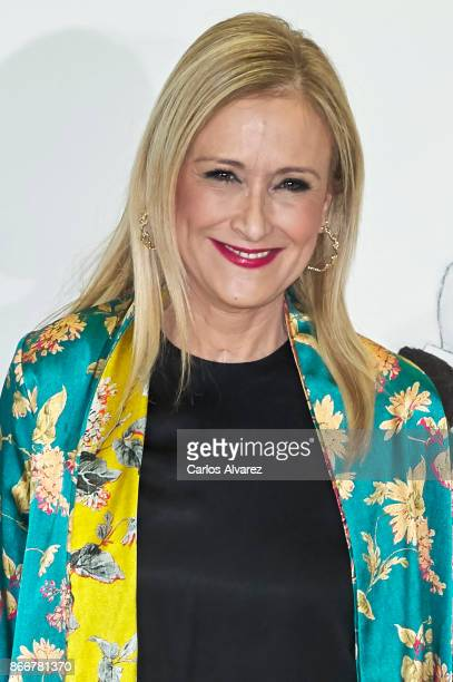 President of the Community of Madrid Cristina Cifuentes attends the 'Mariano de Cavia' 'Luca de Tena' and 'Mingote' Journalism awards on October 26...