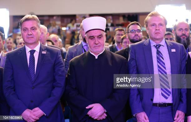 President of the Council of Ministers of Bosnia and Herzegovina Denis Zvizdic the CEO of BBI Amer Bukvic and Grand Mufti of Bosnia and Herzegovina...