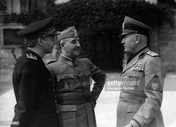 President of the Council of Ministers of the Kingdom of Italy Benito Mussolini having a talk with the Head of State and President of Spanish...