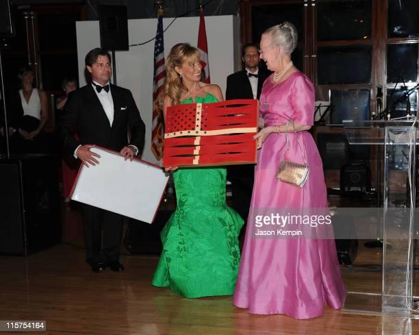 President of The Danish American Society Lisa Halpern and Queen Margrethe of Denmark attend the 2011 Danish American Society Person Of The Year Gala...