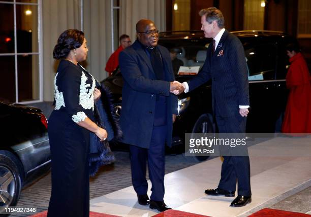 President of the Democratic Republic of Congo Felix Tshisekedi arrives as Prince William, Duke of Cambridge and Catherine, Duchess of Cambridge host...
