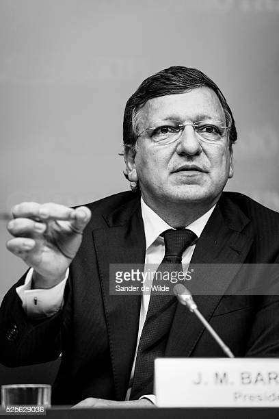 President of the EC Jose Manuel Barrosso, during a press conference at the end of the Tripartite Social Summit at the EU council headquarters in...