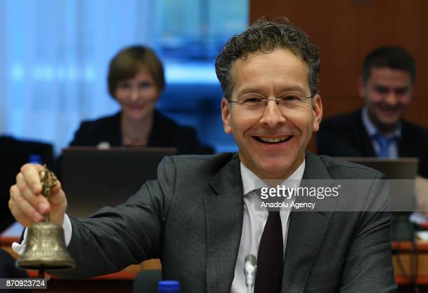 President of the Eurogroup Jeroen Dijsselbloem attends the Euro Zone Finance Ministers Meeting in Brussels Belgium on November 6 2017