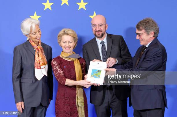 President of the European Central Bank Christine Lagarde, the President of the European Commission Ursula von der Leyen, the President of the...