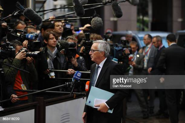 President of the European Commission JeanClaude Juncker arrives ahead of the second day of European Council meetings at the Council of the European...