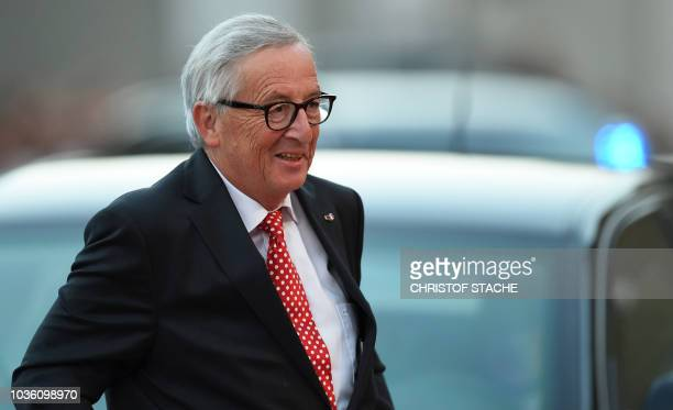 President of the European Commission JeanClaude Juncker arrives at the Felsenreitschule prior to an informal dinner as part of the EU Informal Summit...