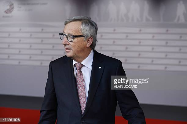 President of the European Commission JeanClaude Juncker arrives at the House of the Blackhead for an informal dinner at the start of the fourth...