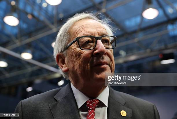President of the European Commission JeanClaude Juncker arrives for the second day of the European Union leaders summit at the European Council on...
