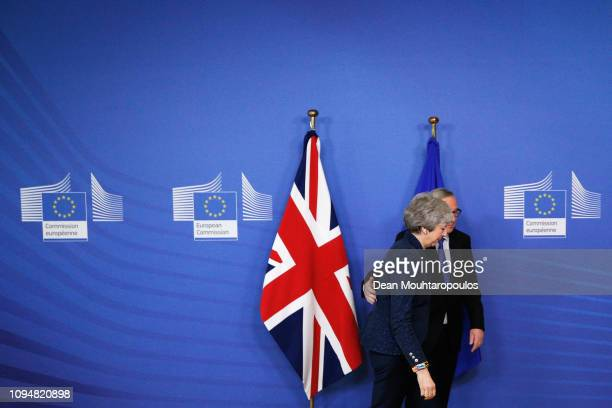 President of the European Commission JeanClaude Juncker receives Ms Theresa May Prime Minister of the United Kingdom in the VIP corner of The...