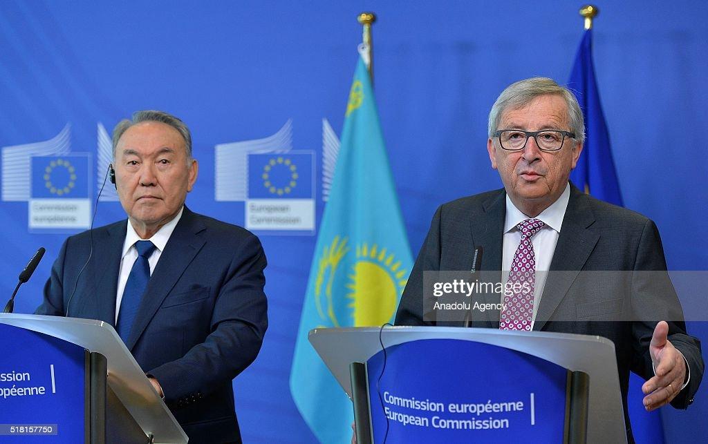 Kazakhstan President Nursultan Nazarbayev in Brussels  : News Photo