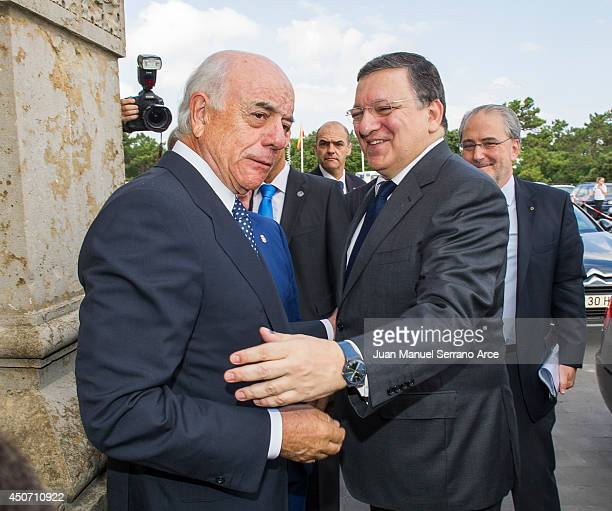 President of the European Commission Jose Manuel Barroso and President of Spanish bank BBVA Francisco Gonzalez attend at the International Menendez...