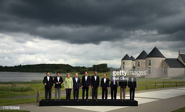 President of the European Commission Jose Manuel Barroso Japanese Prime Minister Shinzo Abe German Chancellor Angela Merkel Russia's President...
