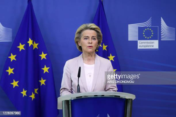 President of the European Commission, Ursula Von der Leyen, announces the replacement of Ireland's Commissioner, Phil Hogan, whose portfolio will be...
