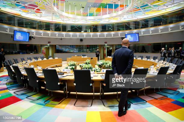 President of the European Council Charles Michel at the special European Council summit in Brussels
