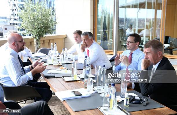 President of the European Council Charles Michel meets with Czech Republic's Prime Minister Andrej Babis Poland's Prime Minister Mateusz Morawiecki...