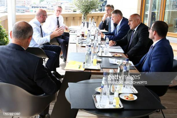 President of the European Council Charles Michel meets with Slovenia's Prime Minister Marjan Sarec Bulgaria's Prime Minister Boyko Borisov Romania's...